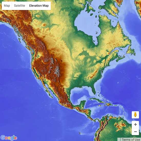 Worldwide Elevation Finder MAPLOGS - Ground elevation map